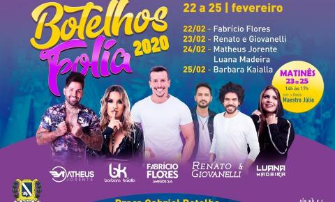 Liberada a programação para o carnaval 2020